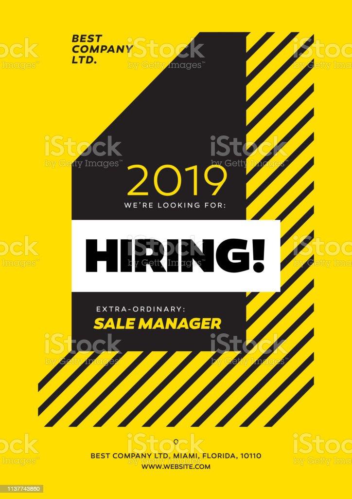Hiring Poster, We are Hiring Advertisement Design Template. Social...
