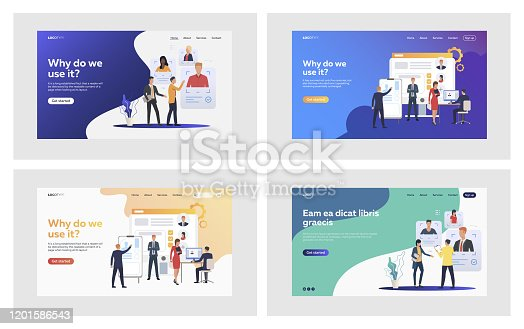 Hiring professionals set. Employers, recruit agents selecting candidates profiles. Flat vector illustrations. Employment, career concept for banner, website design or landing web page