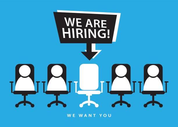 Hiring recruitment employment concept vector art illustration