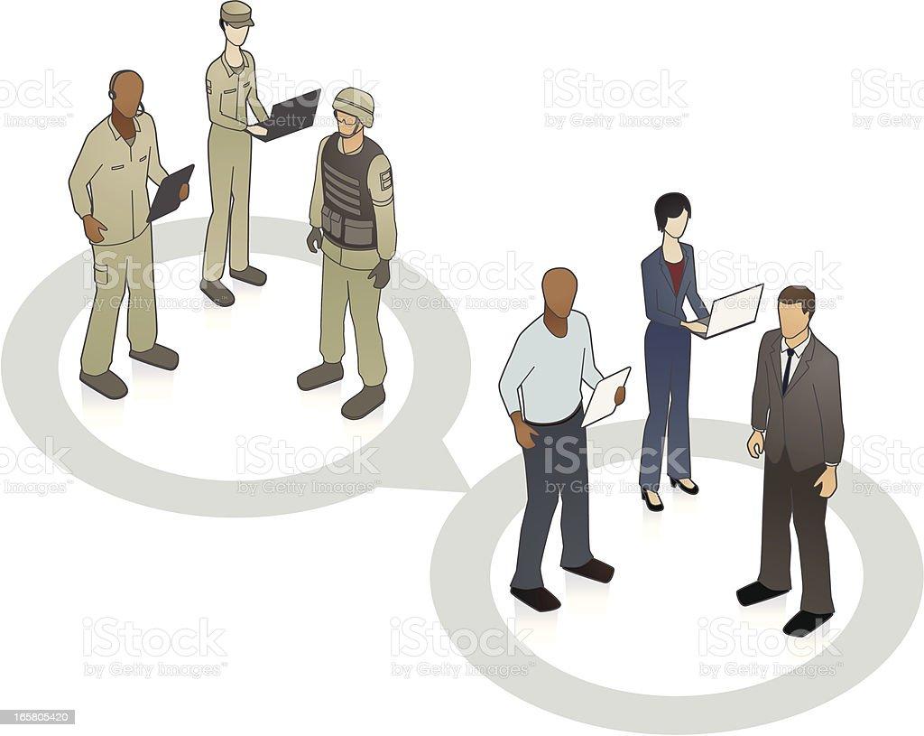 Hiring Veterans Illustration vector art illustration