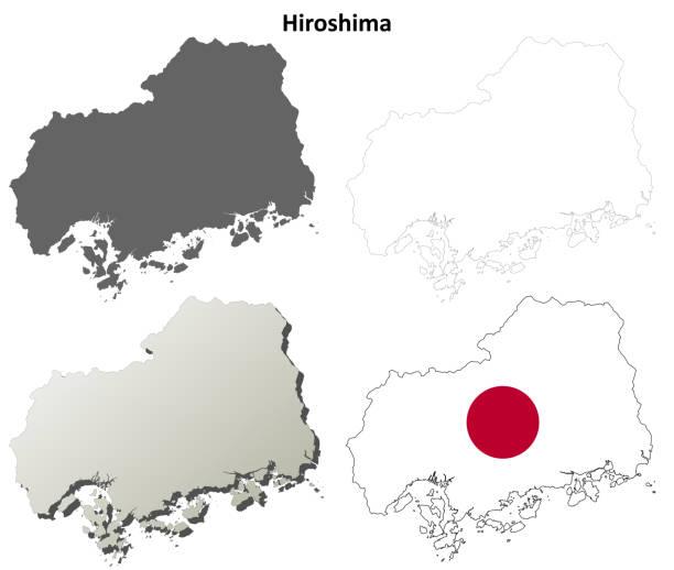廣島空白輪廓圖集 - hiroshima 幅插畫檔、美工圖案、卡通及圖標