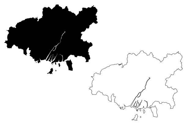 廣島市地圖 - hiroshima 幅插畫檔、美工圖案、卡通及圖標