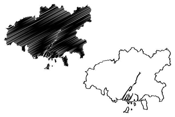 廣島市(日本,島國,楚戈庫地區)地圖向量圖,塗鴉草圖廣島地圖城市。 - hiroshima 幅插畫檔、美工圖案、卡通及圖標