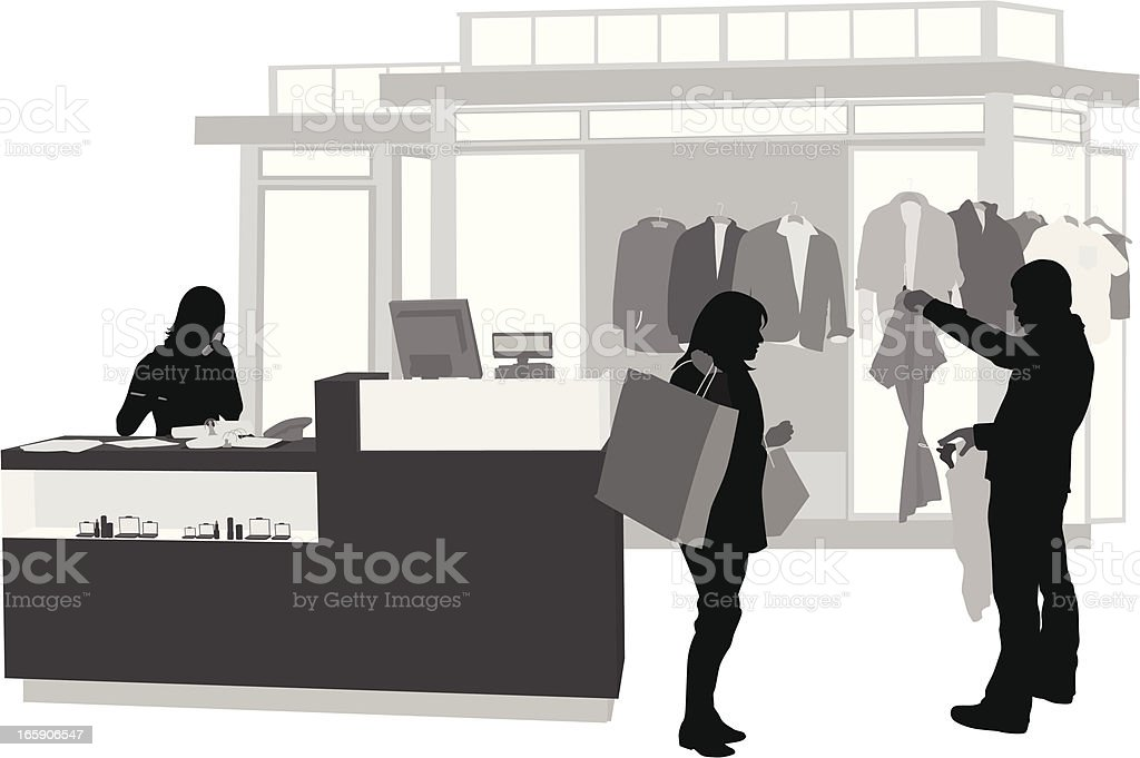 His Clothing Vector Silhouette royalty-free stock vector art