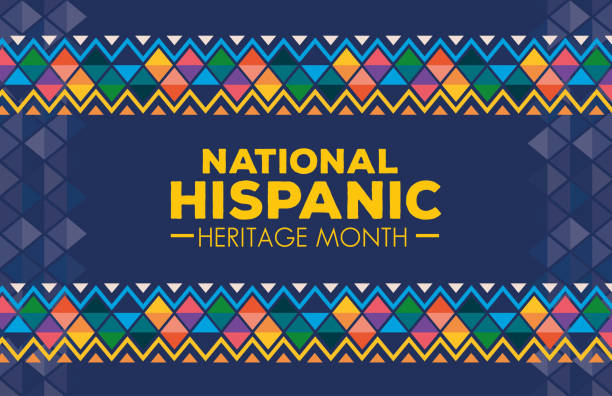 hispanic and latino americans culture, national hispanic heritage month in september and october, background or banner hispanic and latino americans culture, national hispanic heritage month in september and october, background or banner vector illustration design hispanic heritage month stock illustrations