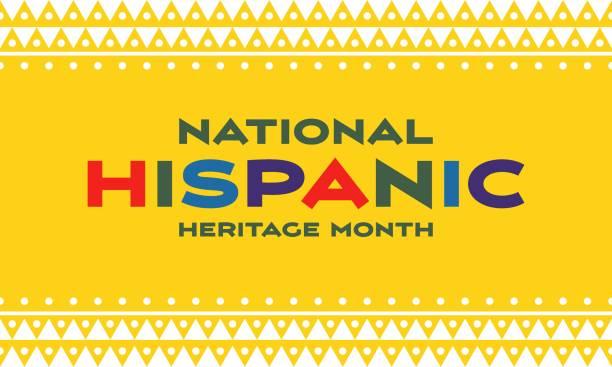 Hispanic Heritage Month background. Poster, card, banner vector art illustration