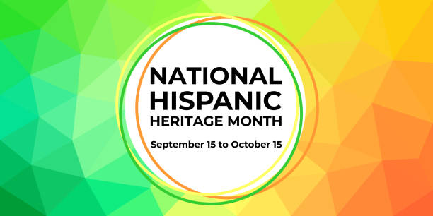 Hispanic heritage month. Vector web banner, poster, card for social media, networks. Greeting with national Hispanic heritage month text, on low poly background. Hispanic heritage month. Vector web banner, poster, card for social media, networks. Greeting with national Hispanic heritage month text, on low poly background hispanic heritage month stock illustrations