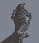 Hispanic Woman wearing Latin Dance fashion