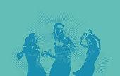 Hispanic Women Latin Dancing