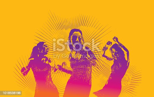 istock Hispanic Women Latin Dancing 1018538196