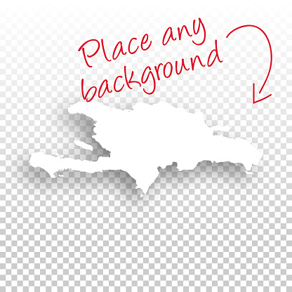 Hispaniola Map for design - Blank Background