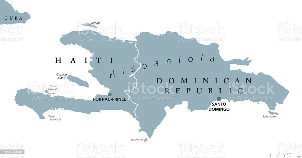 Hispaniola political map with haiti and dominican republic stock hispaniola political map with haiti and dominican republic royalty free hispaniola political map with haiti gumiabroncs Gallery