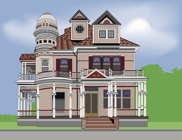 Best Victorian House Illustrations, Royalty-Free Vector ...