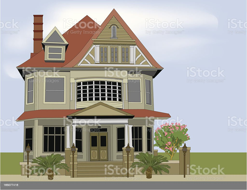 Historic Home royalty-free stock vector art