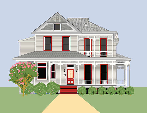 Historic Home #4 Very nice historic home.  AI vs 10 included in zip. front stoop stock illustrations