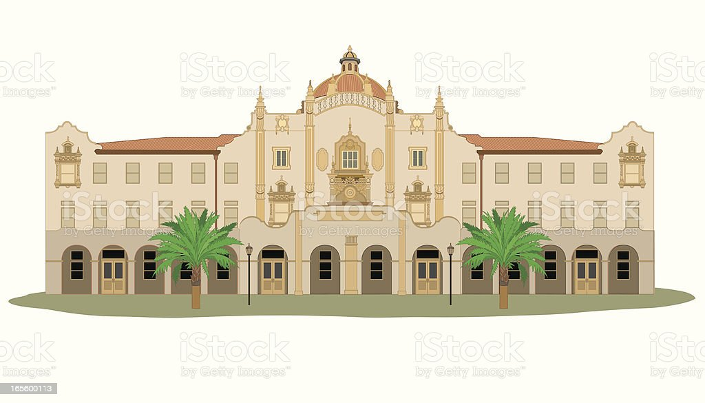 Historic Landmark, Mobile Alabama royalty-free stock vector art