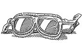 Historic Racing Glasses Drawing