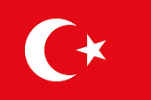 Historical flag of Ottoman Empire. Correct proportion and color