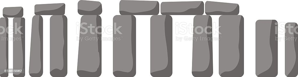 Historical monument Stonehenge ancient rock England UK vector vector art illustration