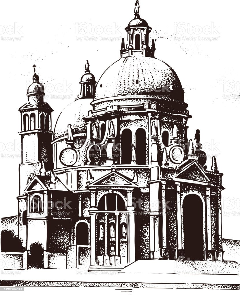 Historical old building. Facade in Venice. Gothic Baroque style. Ancient Architecture of street in Italy. European city on white background. Vector illustration. Hand drawn engraved sketch royalty-free historical old building facade in venice gothic baroque style ancient architecture of street in italy european city on white background vector illustration hand drawn engraved sketch stock vector art & more images of architecture