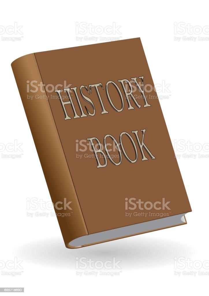 History book vector art illustration