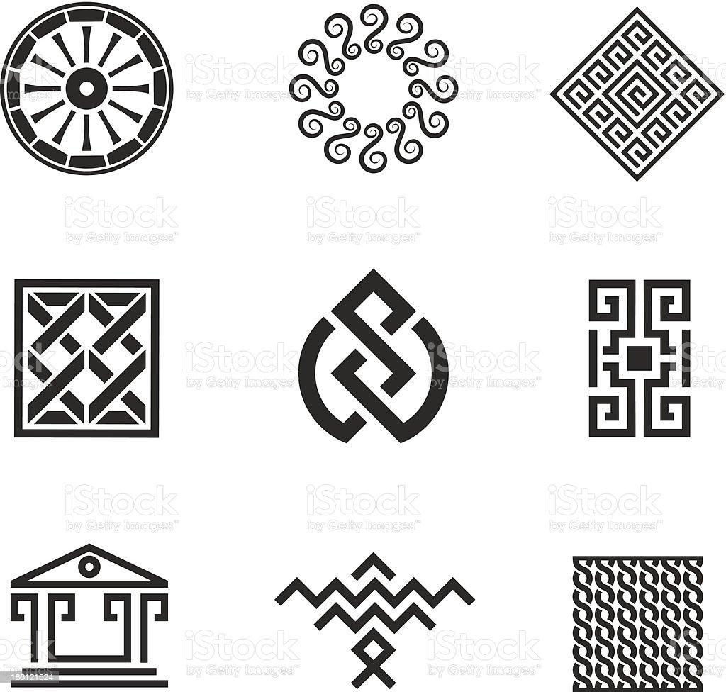 Geschichte Dekoration Und Ornament Bild Style Logovorlage Stock ...