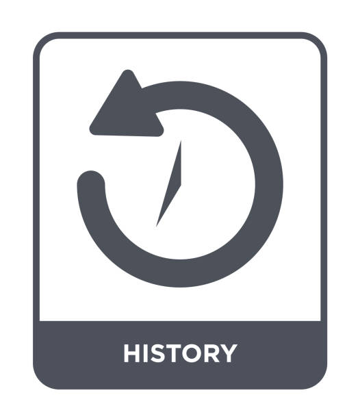 geschichte-symbol vektor auf weißem hintergrund, gefüllt geschichte trendige ikonen aus user-interface-auflistung - reiseliteratur stock-grafiken, -clipart, -cartoons und -symbole