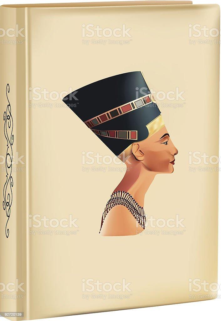 history of Nefertiti vector art illustration