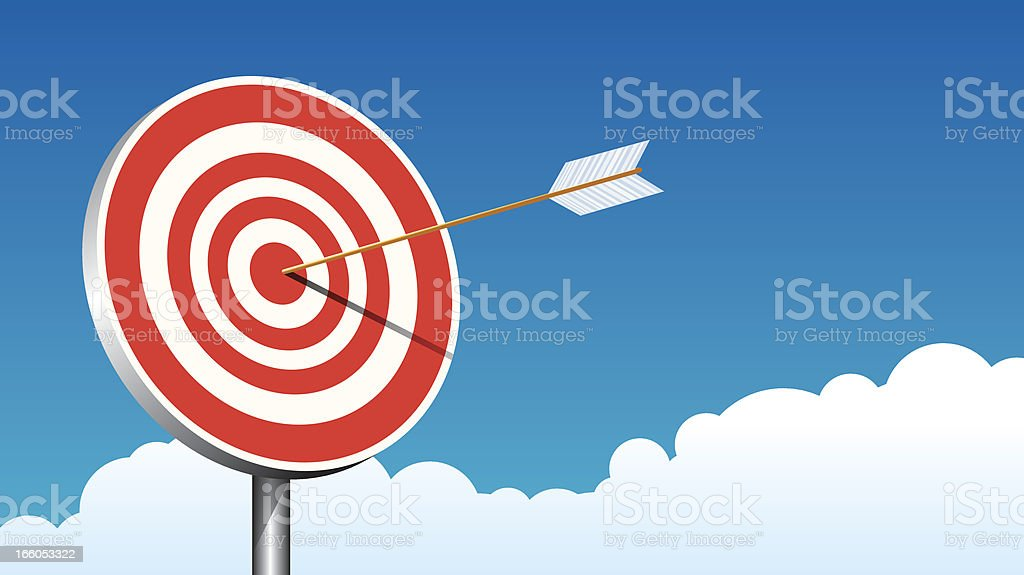 Hit On the target royalty-free hit on the target stock vector art & more images of accuracy