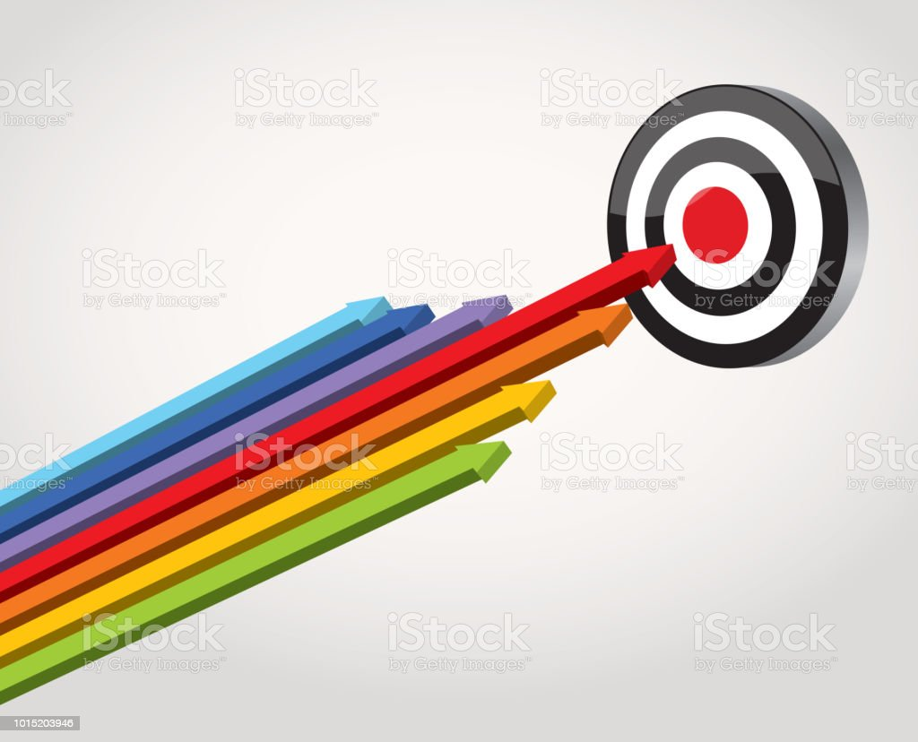 Hit the target vector art illustration