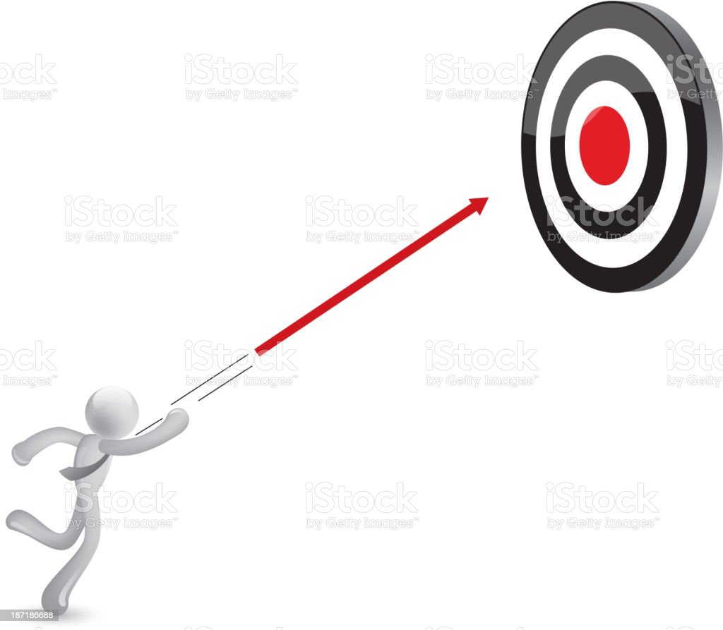 Hit the target royalty-free stock vector art