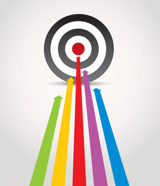 hit the target - goals stock illustrations