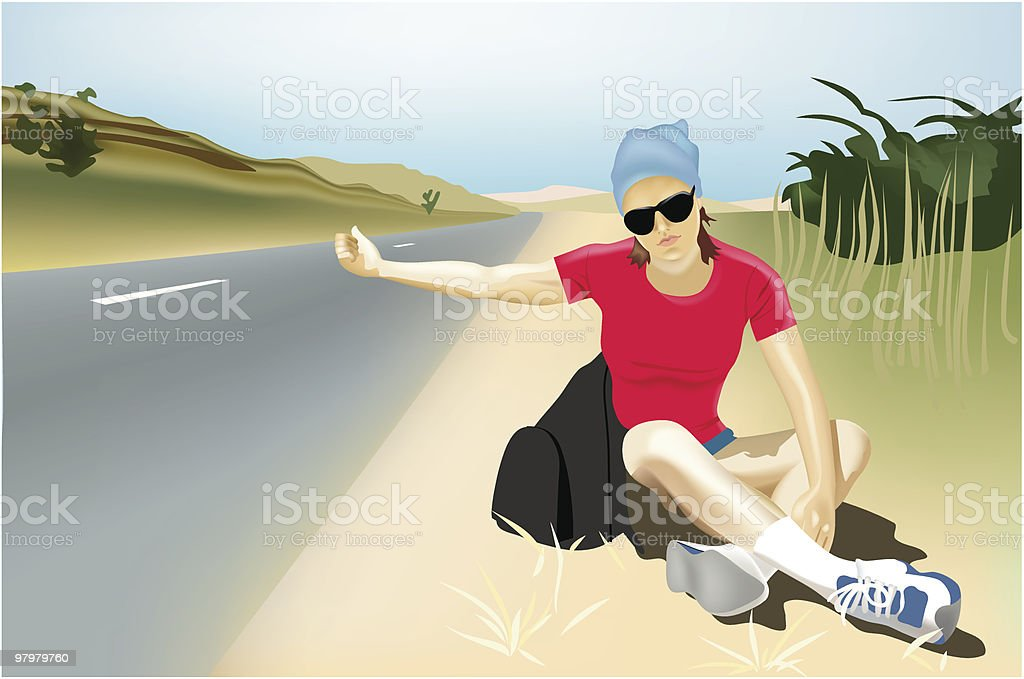 Hitchhiking royalty-free hitchhiking stock vector art & more images of activity