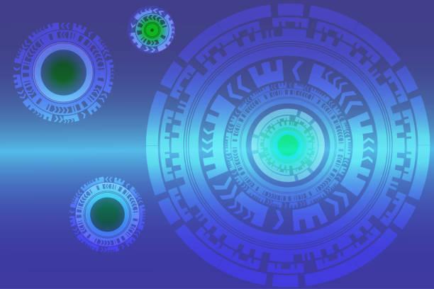 Hi-Tech-abstrakten Hintergrund digitale technologische Kreis-Vektor-illustration – Vektorgrafik