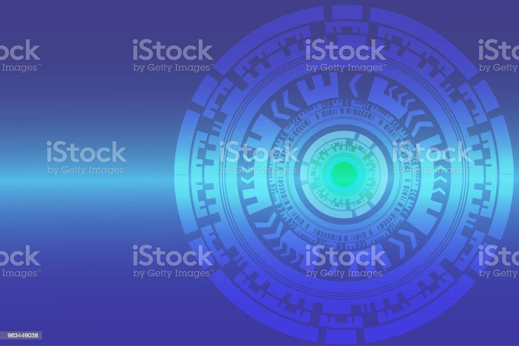 illustration vectorielle de haute technologie abstrait cercle technologique numérique - clipart vectoriel de ATH - Interface utilisateur graphique libre de droits