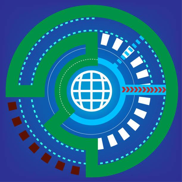 Hi-Tech Kommunikation Konzept Innovation Hintergrund – Vektorgrafik
