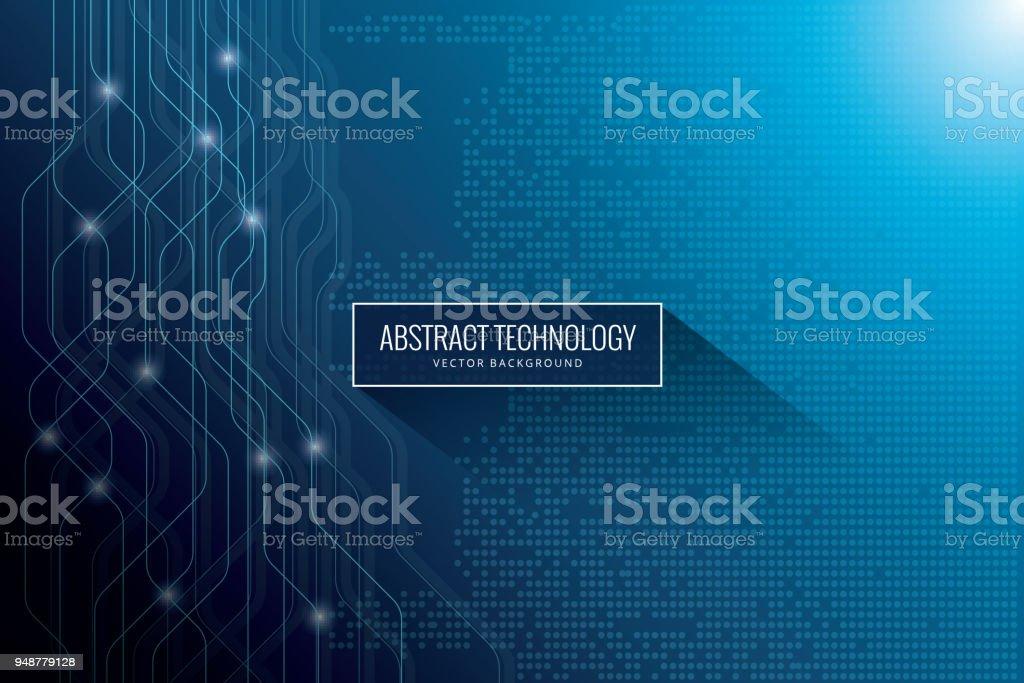 Hi-tech digital communication concept on the blue background vector art illustration