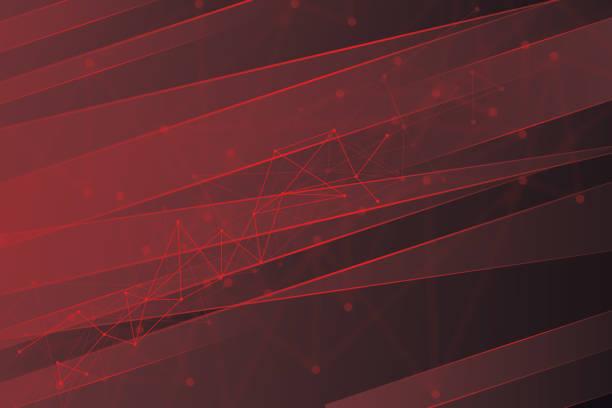 ilustrações de stock, clip art, desenhos animados e ícones de hi-tech digital communication concept on the red background - vr red background