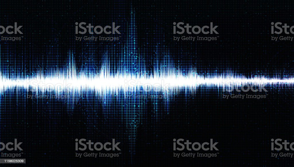 Hi-Tech Digital Sound Wave Low and Hight richter scale with Circle...