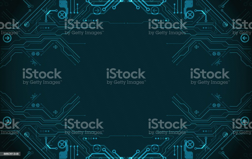 Hi-tech digital technology and engineering theme vector art illustration