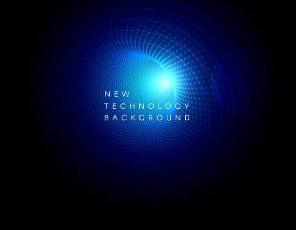 Hi-tech digital technology concept vector art illustration