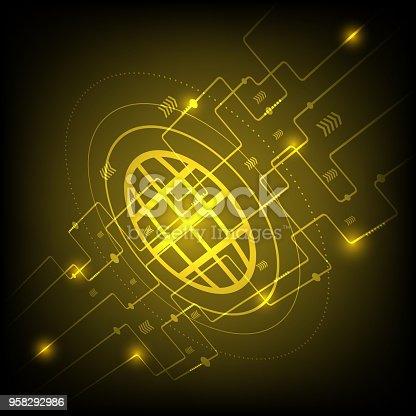 675926042istockphoto Hi-tech golden digital technology concept 958292986