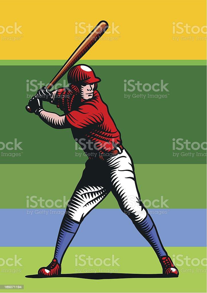 Hitter vector art illustration