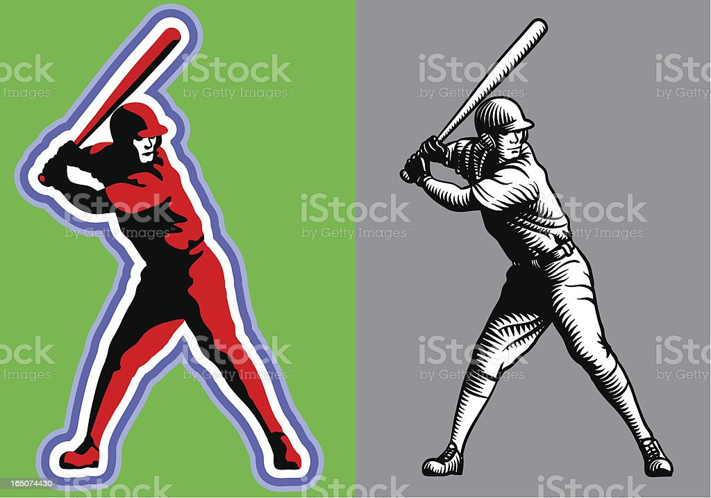 Hitter vector art illustration