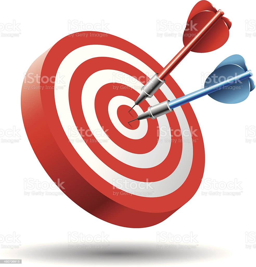 Hitting Target (Business Concept) royalty-free stock vector art