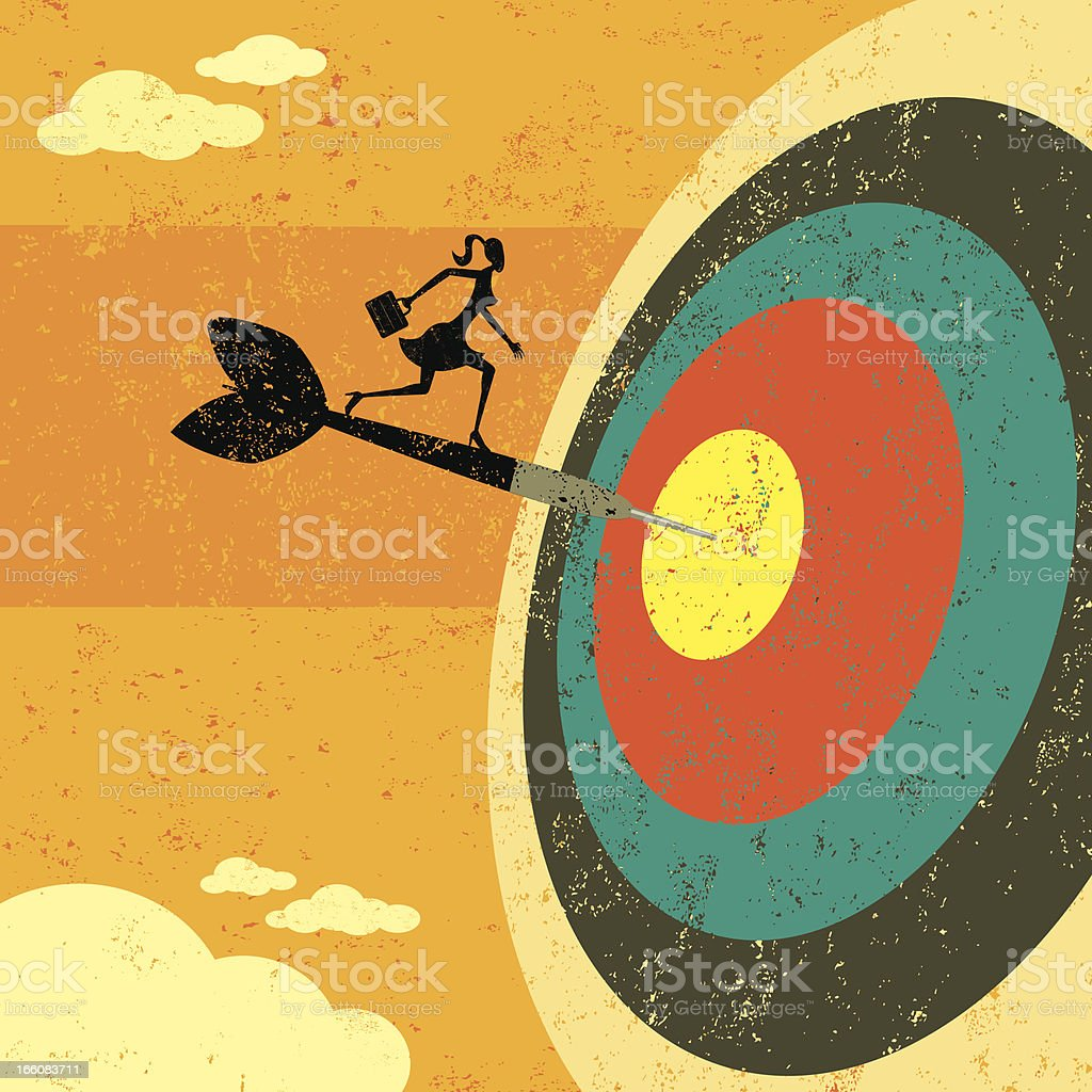 Hitting the target royalty-free stock vector art
