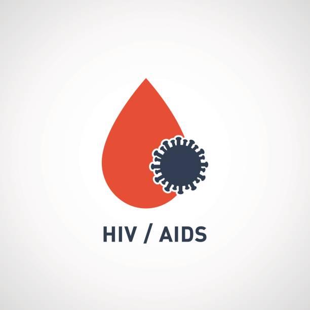 hiv AIDS virus logo vector icon design vector art illustration
