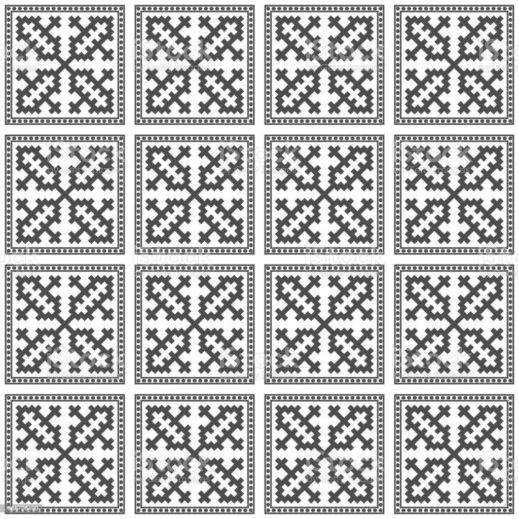 Ilustración de Hmong Patrón De Fondo Transparente Textura Vector ...