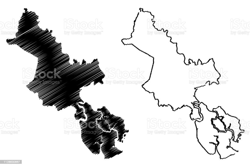 Ho Chi Minh City Province Map Vector Stock Illustration