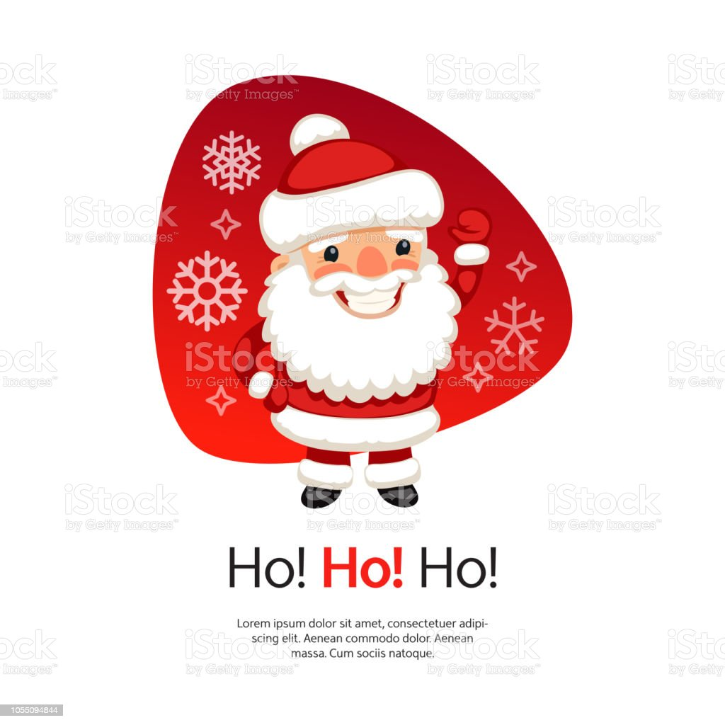 Ho Ho Christmas Card With Santa Claus Stock Vector Art & More Images ...